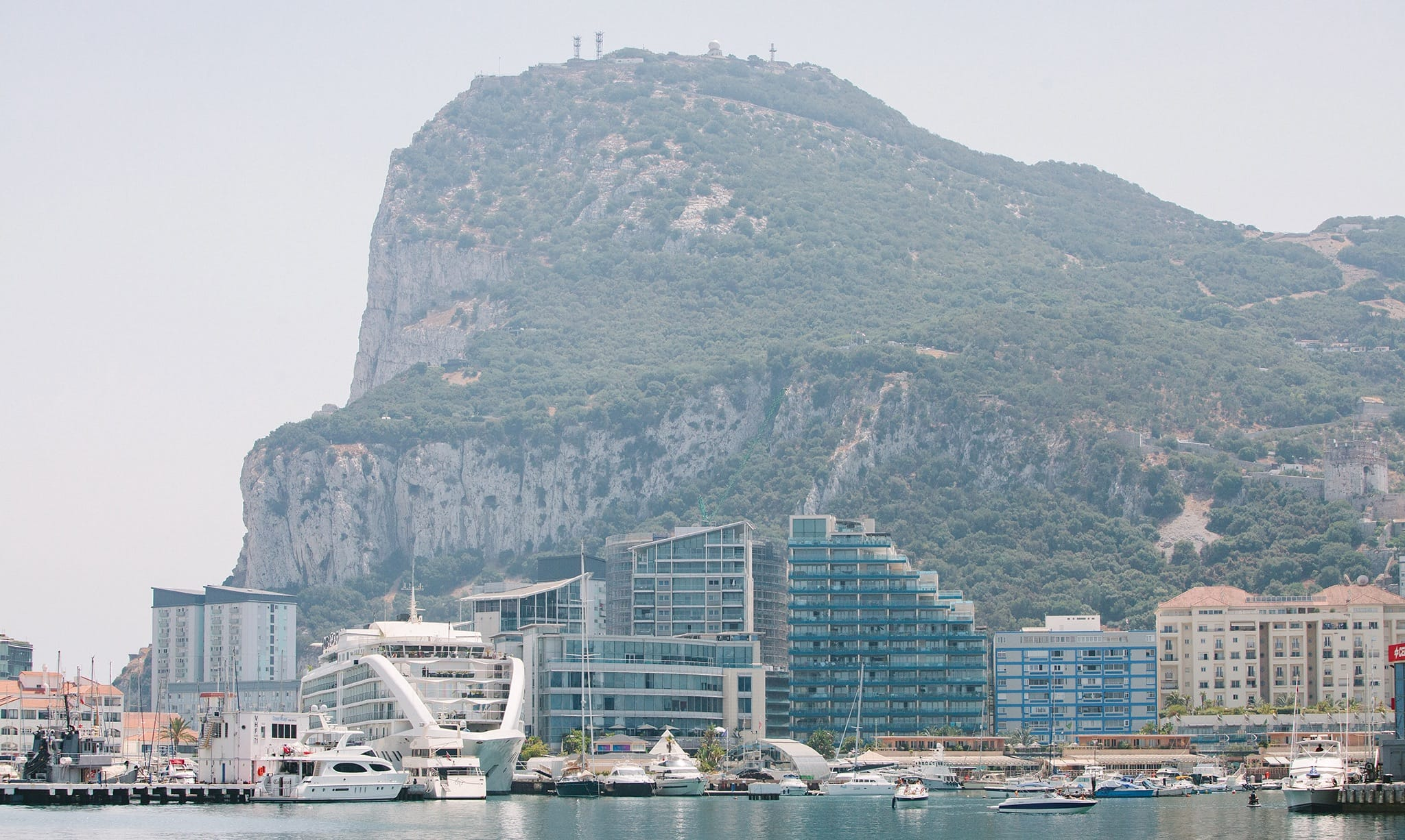Sea view of Gibraltar coastline